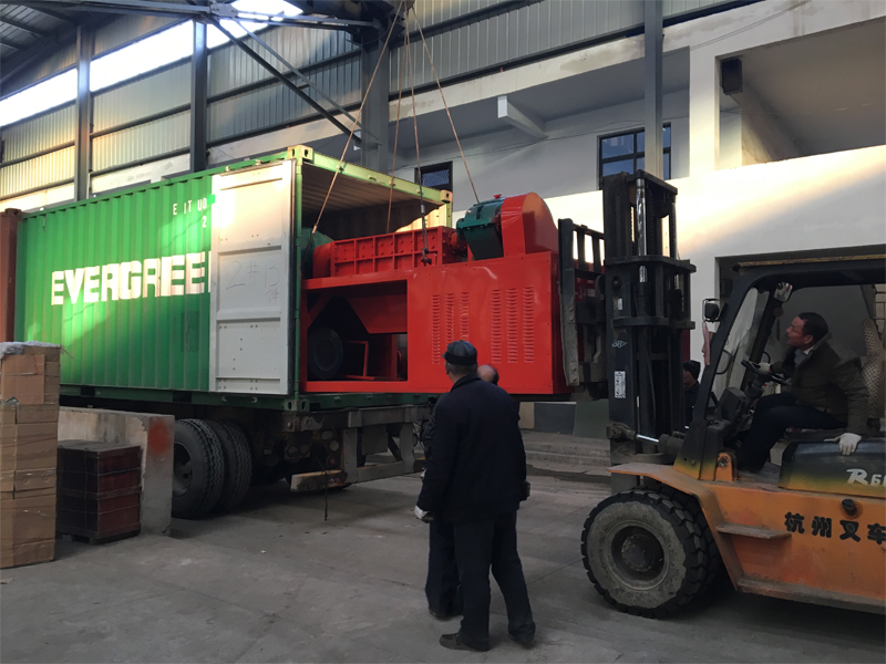 1200 double shaft shredder sent to Mexico