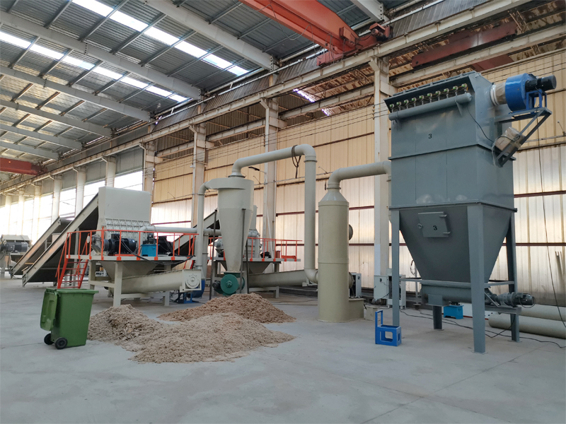 Dry waste paper pulping system